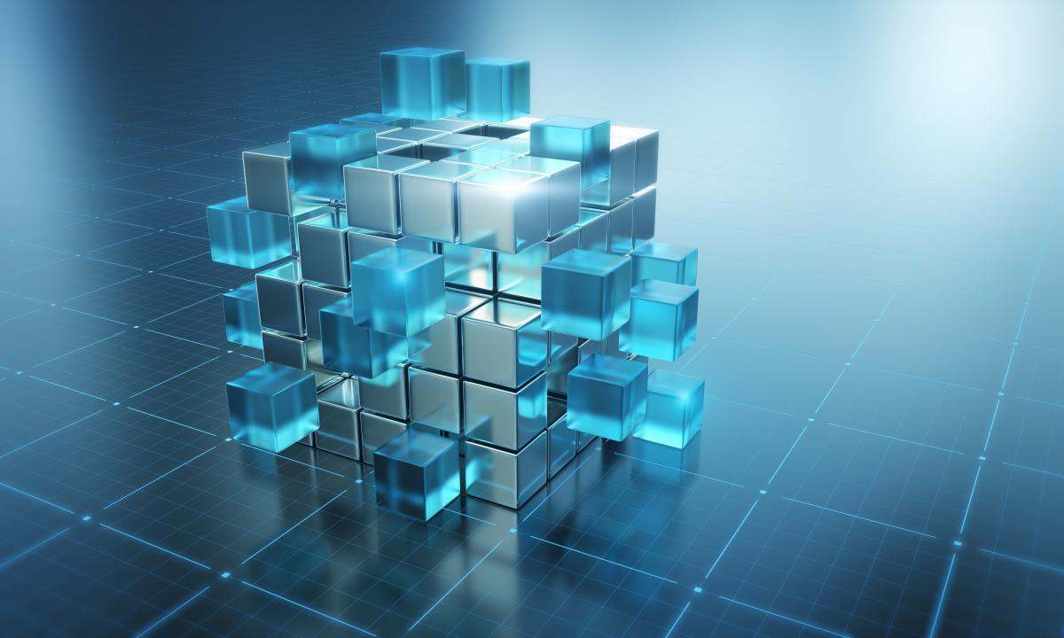 stacked-blue-cubes-on-a-blue-grid-background