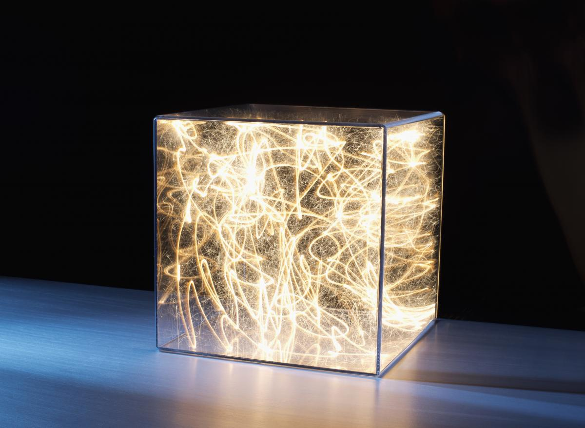clear-box-with-sparkling-lights-inside