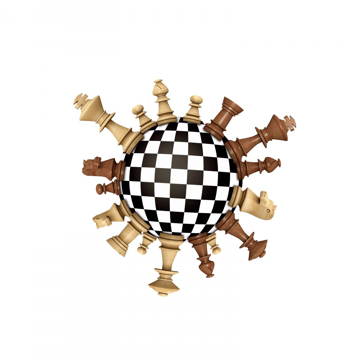round-chessboard-and-pieces-arranged-to-resemble-coronavirus
