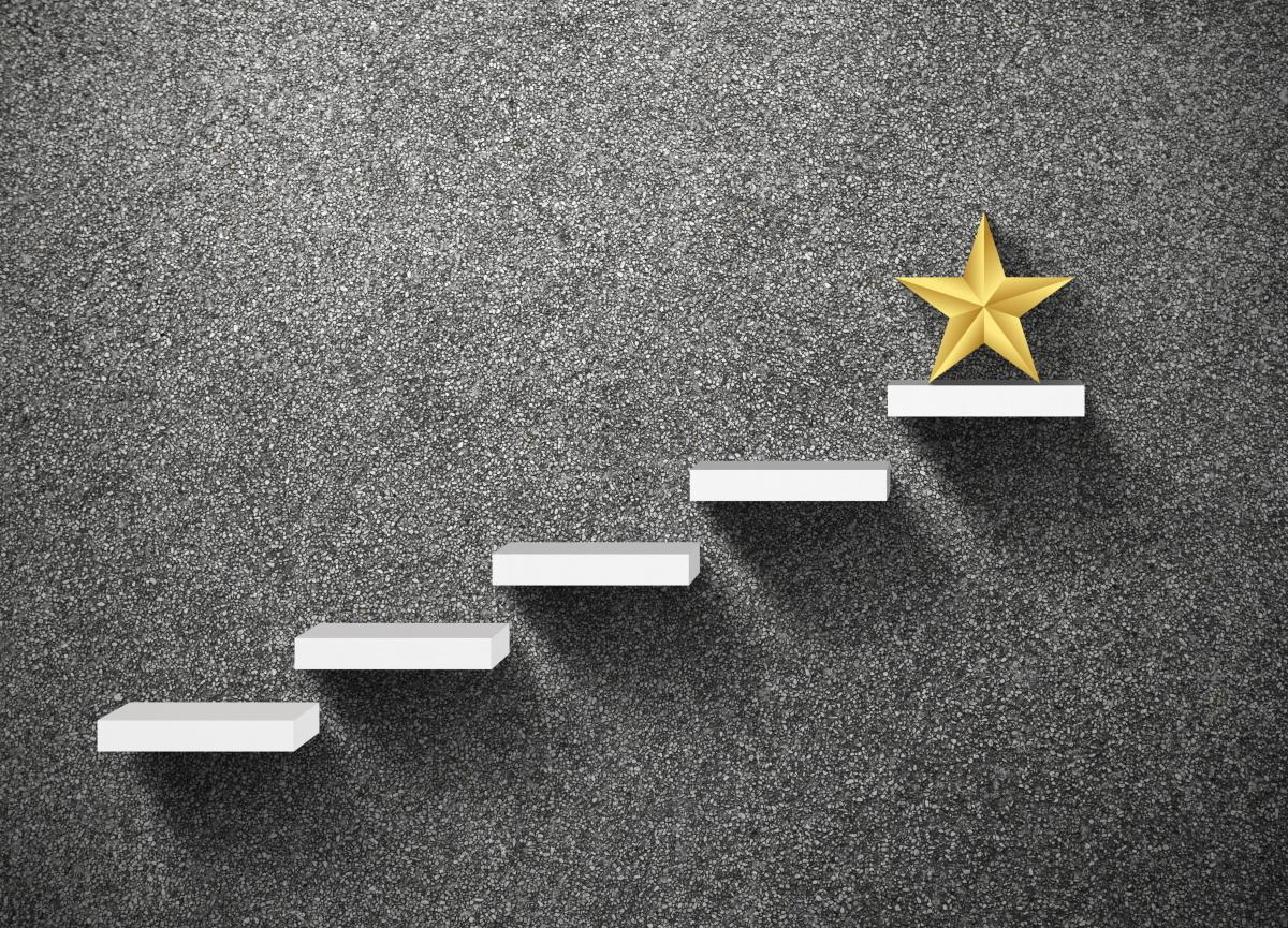 large-gold-star-at-top-of-staircase