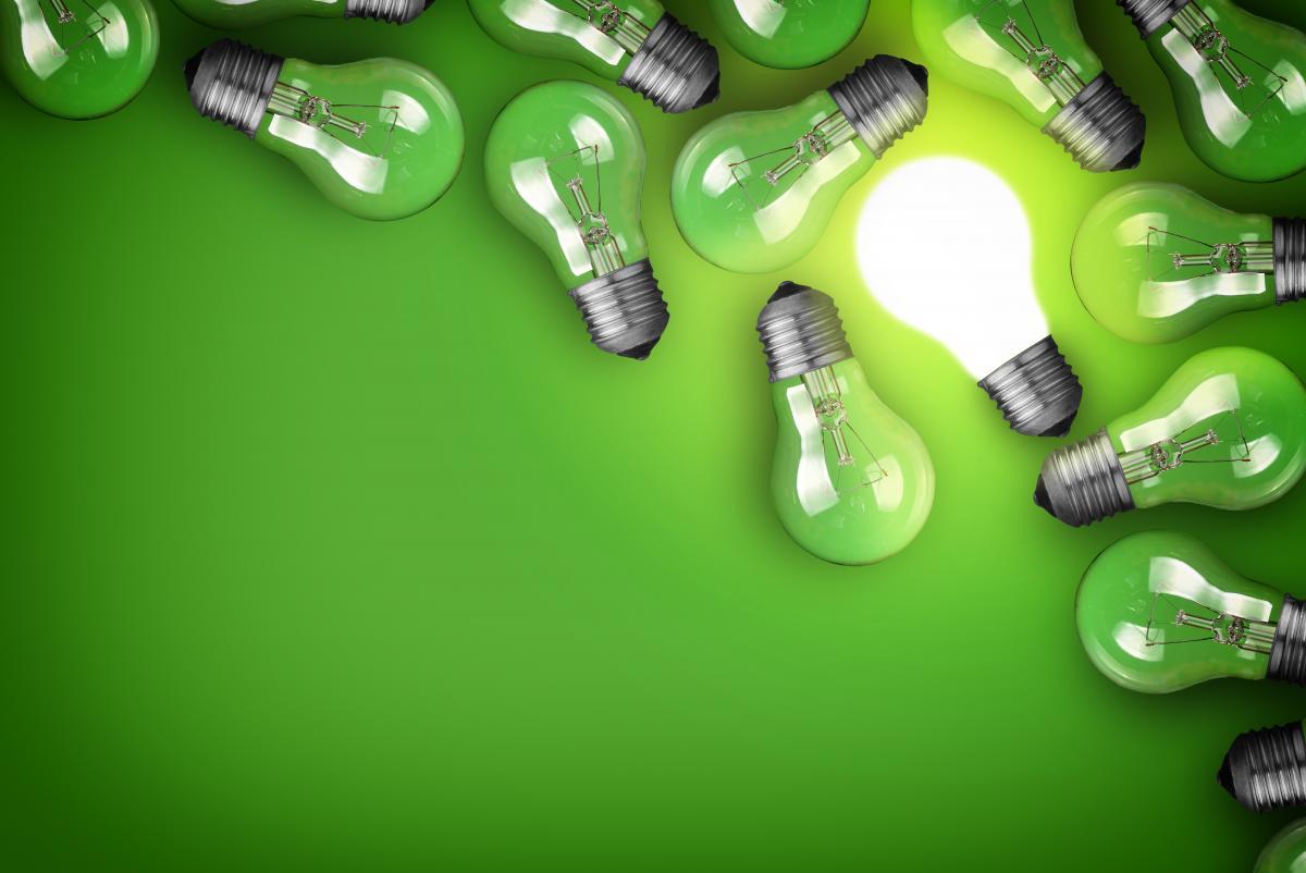lightbulbs-on-green-background