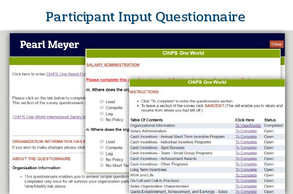 Participant Tools Questionnaire